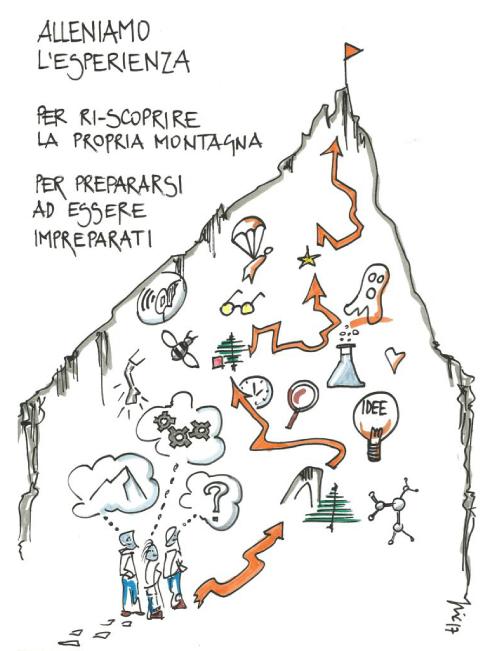 disegno esperienza in montagna