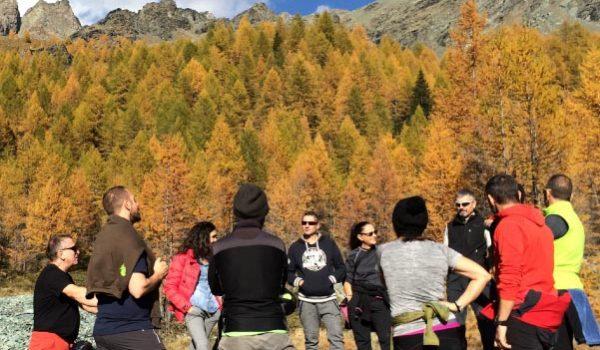gruppo in montagna